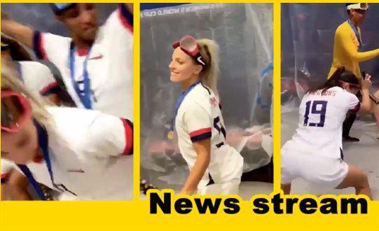 """WATCH: Women's U.S. Soccer Team Celebrate by """"Twerking"""""""