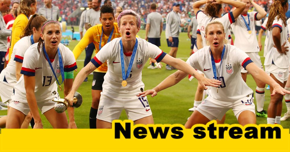 WATCH: Megan Rapinoe Turns Down American Flag, Teammate Drops It to Pose for Photos