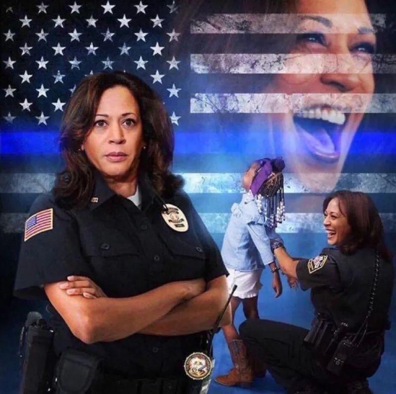 Kamala is a Cop meme