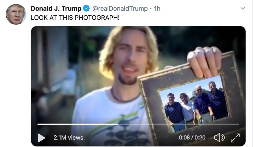 a screenshot of Trump's deleted tweet
