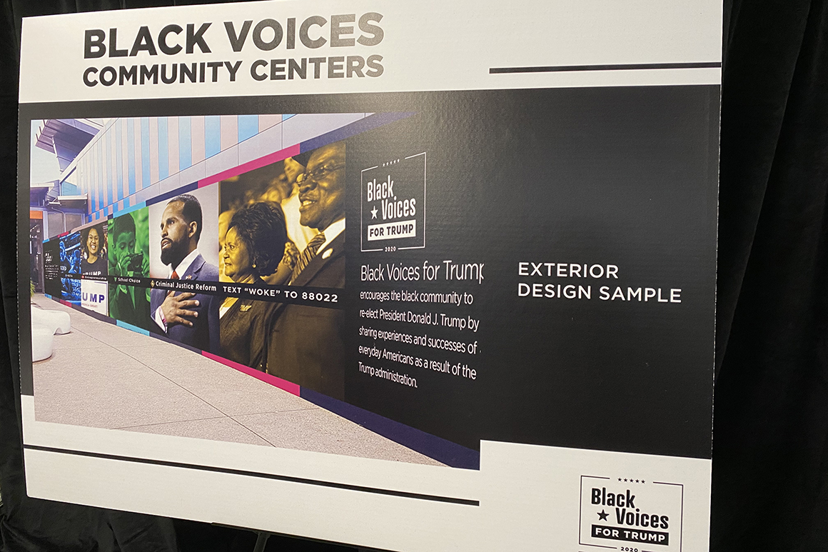 Black Voices for Trump poster