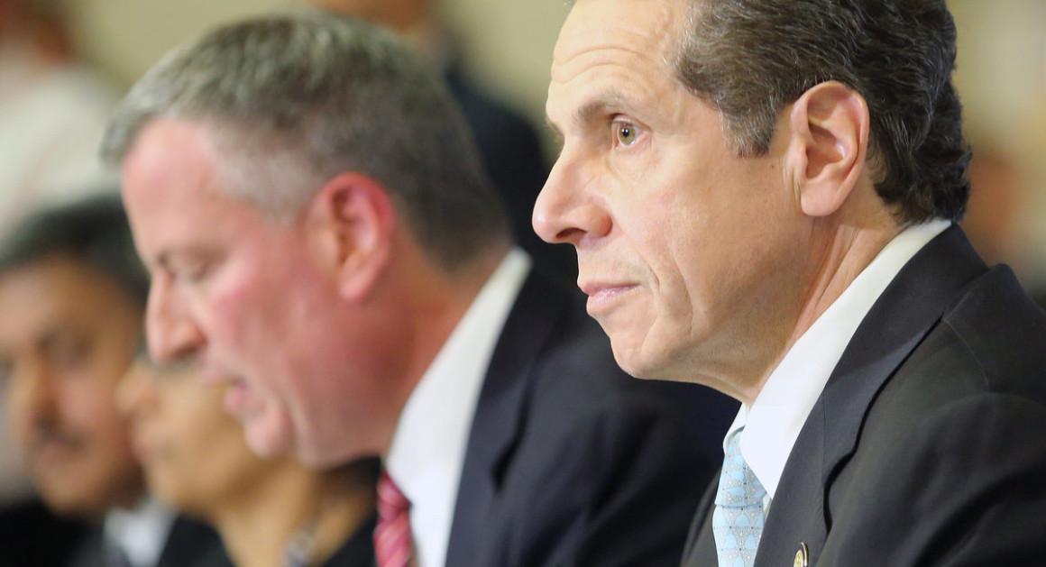 Mayor Bill de Blasio and Gov. Andrew Cuomo   Office of the Governor of New York