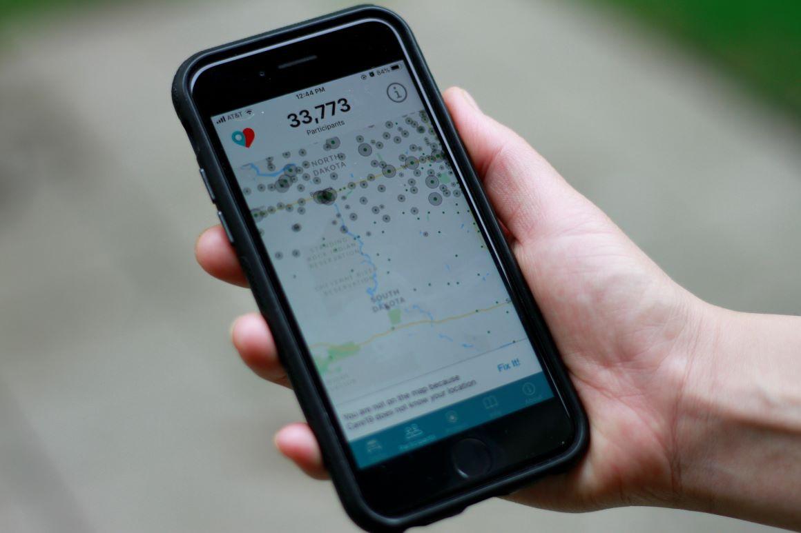 A contact tracing app | AP Photo