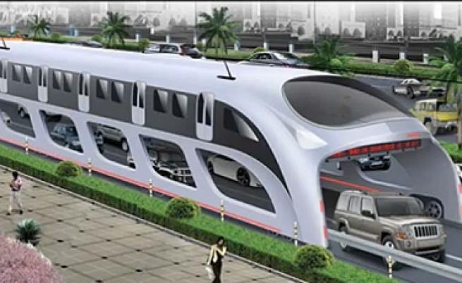 """Новият автобус ще може да превозва до 1400 души със скорост до 60 км/ч. Екологично чистото транспортно средсдтво ще се задвижва с електричество, част от което произведено от соларните панели върху него. То ще е снабдено с лазерни датчици в """"тунела"""", които ще предупреждават звуково и светлинно шофьорите на преминаващите отдолу коли за прекалено опасно приближаване до стените на возилото. Вижте още: Как изглежда училището на бъдещето Освен това новото транспортно средство ще осъществи икономия от 860 тона гориво годишно. Това ще намали с 2640 тона изхвърлянето на въглероден двуокис в атмосферата. Трансграничният автобус ще бъде нещо като електромобил, като отчасти ще работи за сметка на слънчеви батерии. Първите 186 км. от релсите за новото поколение автобуси ще бъдат построени в района Ментугу в китайската столица Пекин до края на тази година."""