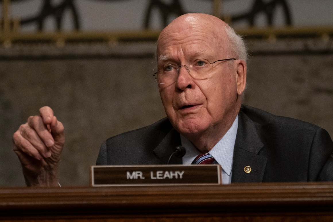 Sen. Patrick Leahy speaks during a Senate Judiciary Committee hearing on August 5, 2020.
